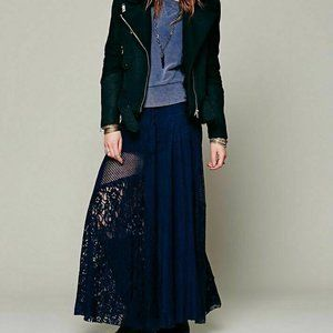 Free People FP One Patchwork Lace Festival Skirt